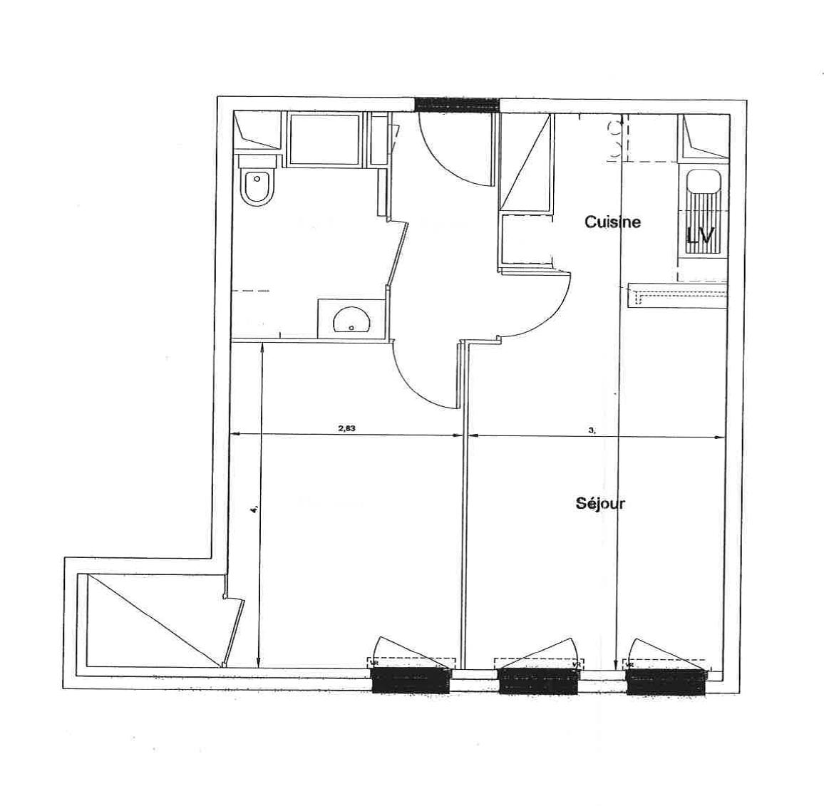 Vente Appartements Maisons Et Villas à Montreuil Paris: Vente Appartement Montreuil (93100) 2 Pièces 42.5 M2